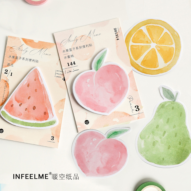 Creative Fruit Party Watermelon Memo Pad N Times Sticky Notes Memo Notepad Bookmark Gift Stationery