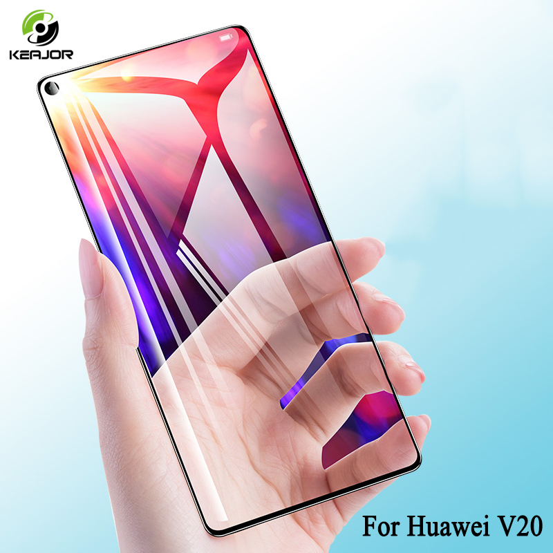 Keajor Full Cover Glass For Huawei Honor V20 Tempered Glass HD Transparent Film Screen Protector For Huawei Honor View 20 Glass