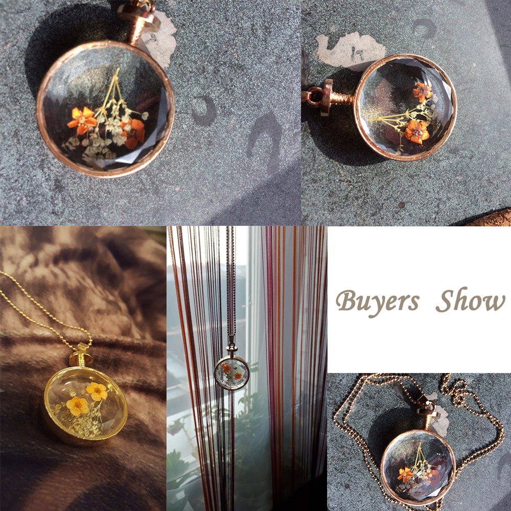 LIEBE ENGEL Kvinder Smykker Collarer Tørrede Blomster Glas Halskæde - Mode smykker - Foto 5