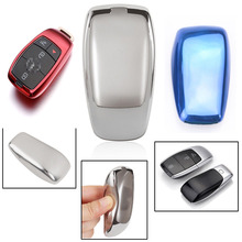 1 Pcs Car Keys Cap Cases FOB Cover Soft TPU Remote Chain For Mercedes Benz E300 E400 E63 S450 S550e S560 S63 S65 AMG электромобили barty merсedes benz s63 amg