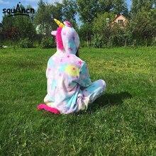 Stars Unicorn Onesie Adult Women Girl Animal Cartoon Pajama Rainbow Soft Warm Pijama Outfit Kugurumi Carnival Party Costume Suit