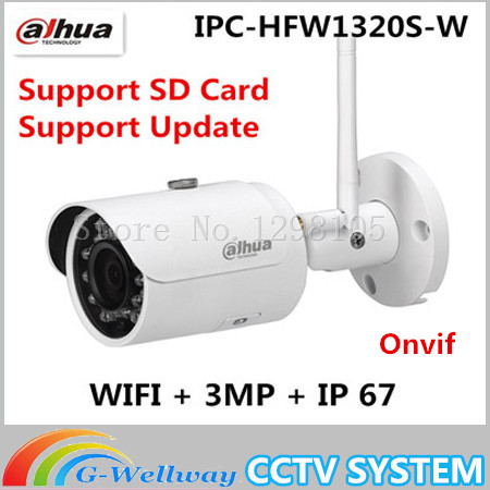 Original Dahua Original Dahua IPC-HFW1320S-W CCTV IP bullet camera 3MP HD 1080P with wifi camera bullet camera tube camera headset holder with varied size in diameter
