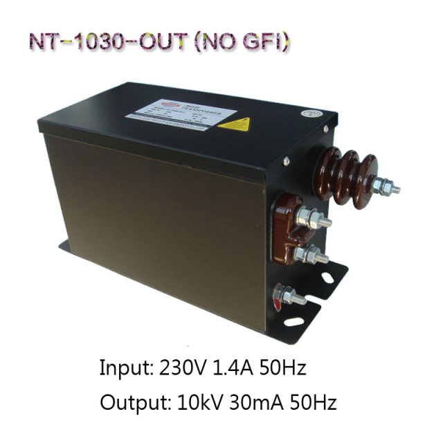 Europese Neon Transformator Teslarol Core Power Frequentie Stap-up Lekkage Experiment Transformator 220V50/60Hz 10KV30mA300W GEEN GFI