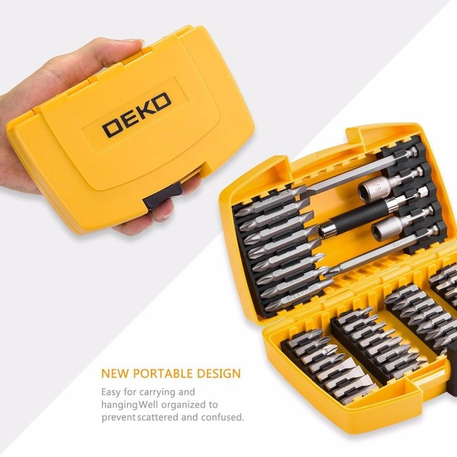 DEKO 46 in 1 Screwdriver Set Phillips/Slotted Bits With Magnetic Multi Tool Home Appliances Repair Hand Tools Kit 4