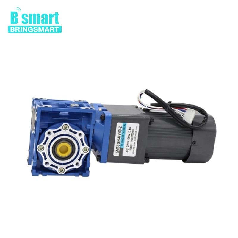 Bringsmart 220 V AC moteur 60 w décélération moteur réducteur à vis sans fin moteur