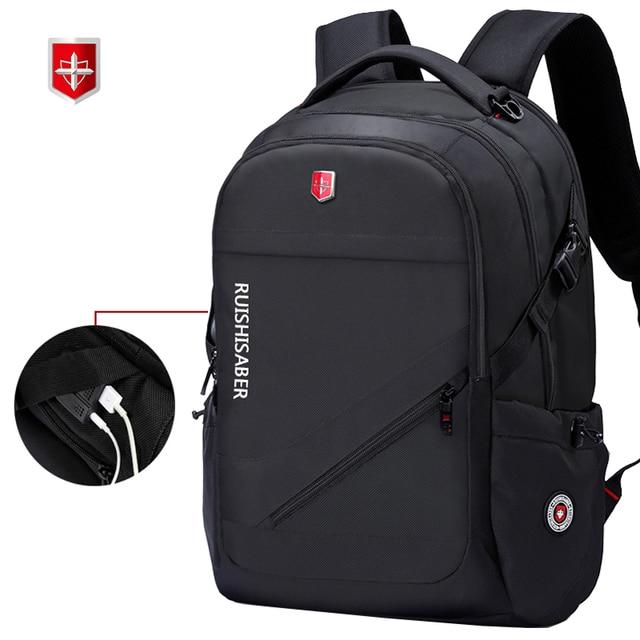 Anti Theft Oxford Business Backpack Men External Charging USB Function Laptop Backpack Swiss Waterproof Travel bag 17 inch women