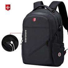 مكافحة سرقة أكسفورد الأعمال على ظهره الرجال الخارجية شحن USB وظيفة محمول على ظهره السويسري مقاوم للماء حقيبة سفر 17 بوصة النساء