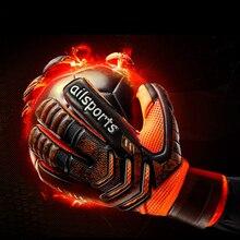 Мужские профессиональные футбольные вратарские перчатки, прочные, 5, защита пальцев, утолщенные, 4 мм, латексные, Детские вратарские перчатки