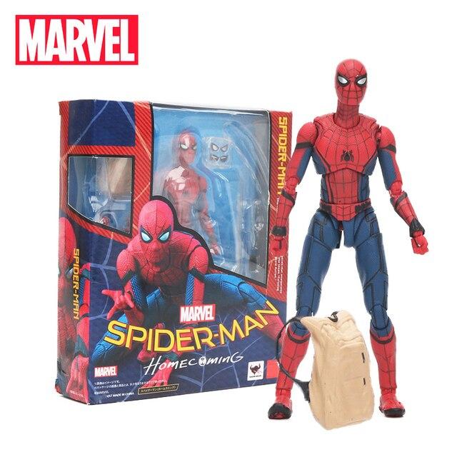 15 centímetros Brinquedos the Avengers Marvel 3 Infinito Guerra Estatueta Spiderman PVC Action Figure Collectible Modelo Toy Boneca do Regresso A Casa