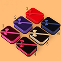 10x7.5x3.5cm Dark Blue/ Red Royal Luxury Velvet Jewelry Box for Necklace Bracelet Earrings Box Fancy Gift Packaging Display Case
