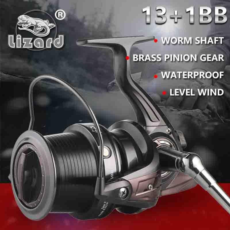 Lizard 10000 Size Full Metal Spool Jigging Trolling Long Shot Casting For Carp And Salt Water Surf Spinning Big Sea Fishing Reel