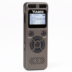 Yulass 16GB Voice Recorder USB Business Portable Digital Audio Recorder With MP3 Player Support  Multi-language,Tf Card to 64GB