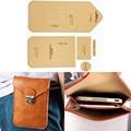 1set DIY Leather Handmade Craft women handbag Mobile phone bag Sewing Pattern Hard Kraft paper Stencil Template 115X175X15MM