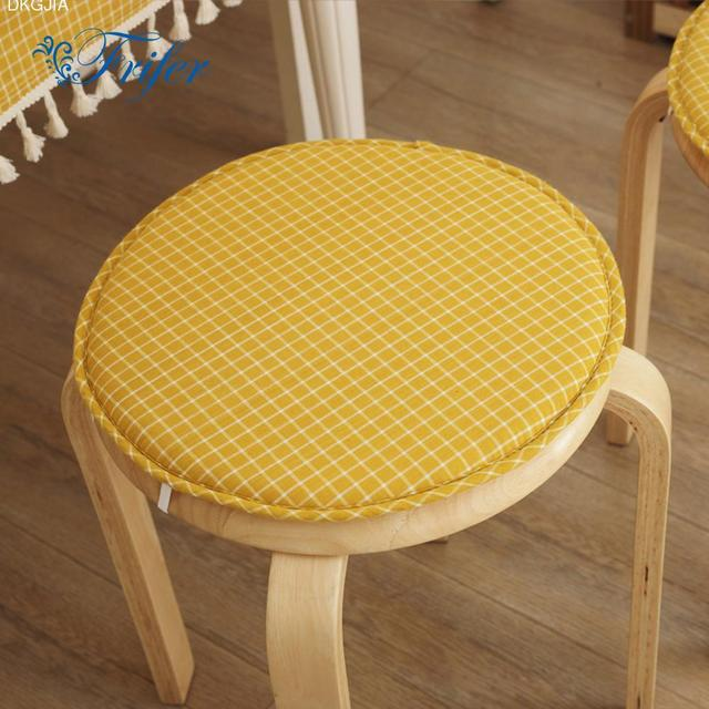 Cute Seat Cushion Round Printed Chair Cushions Office Home Bottom Seats Removable For Kitchen Dining