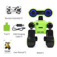 Eletronic R13 CADY WIRI Smart RC Robot Programmable forTouch Control Voice Message Record Sing Dance Toy For kid Children Gift(China)