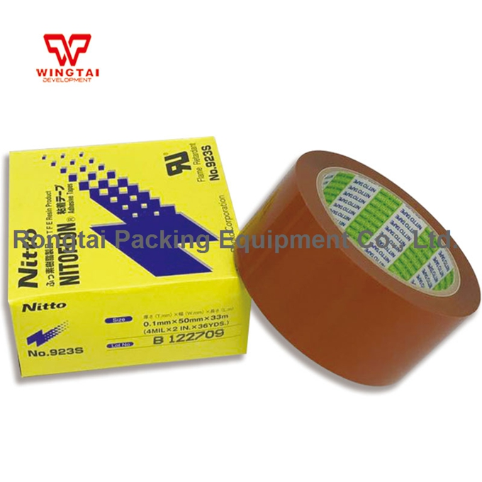 10 Pcs/lot T0.10mm*W50mm*L33m Nitto Tape 923S Heat Sealing Machine Use Heat Resistant Tape -in