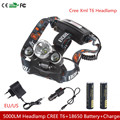 5000Lm Headlamp CREE Xml T6  Flashlight Head Torch Linterna  With Fishing Light + 18650 Battery+ Car Charger+Charger