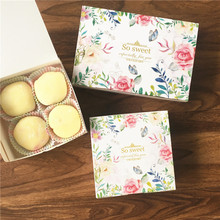 10pcs spring so sweet design cookie Macaron Chocolate Paper Box Christmas Birthday Party Gifts Packaging
