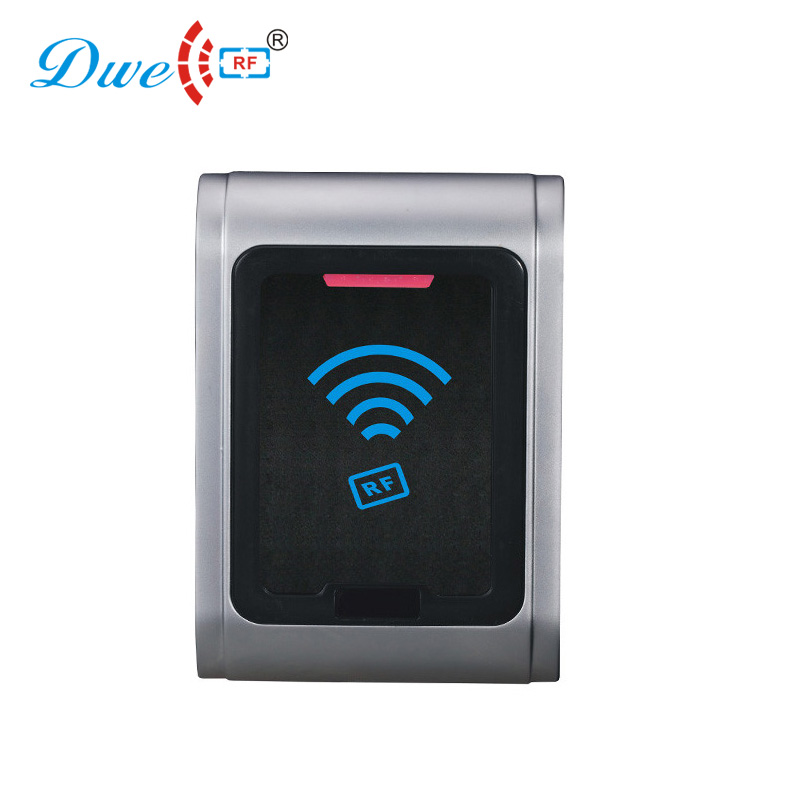 DWE CC RF access control card reader smart card 125khz 13.56mhz waterproof long communication contactless wg26 card reader dwe cc rf access control card reader tcp ip communication door access card reader smart chip card readers with password