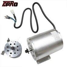 TDPRO – moteur de démarrage électrique sans balais T8F 9T 48v 1800w cc, 4500 tr/min, argent, moteur à courant continu sans balais pour Buggy ATV Go Kart Dirt ATV