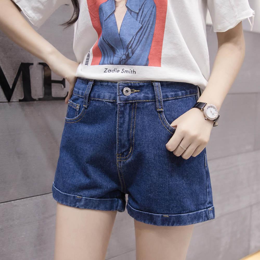 Women Denim   Shorts   Vintage Jeans High Waist   Shorts   Black Cuffed Jeans Streetwear Sexy   Shorts   White Summer Women Jeans Plus Size