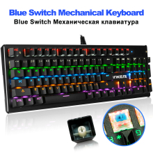 Mechanical Keyboard 104 Keys Blue Switch 13 LED Backlit Mode Gaming Keyboards for Laptop Desktop Wired USB teclado цены онлайн