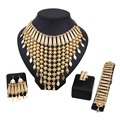 African jewelry set Gold Plated Necklace Earrings set Fashion Wedding Bridal Costume Jewelry Sets False collar necklace
