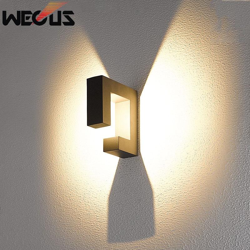 IP54 Водонепроницаемый наружное освещение креативный настенный светильник балкон вилла countyard огни жилой buitenverlichting коридор бюстгальтер