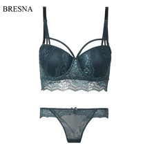 BRESNA New 2017 Half Cup Push Up Bra With Lace Set Underwear Women Embroidery Floral Lacy Sexy Luxury Lingerie Brassieres