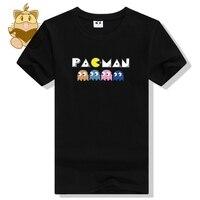 Rétro console jeu PACMAN t-shirt jeu fans t-shirts classique FC jeu t chemises ac464