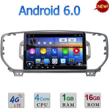 3G 4G WIFI Android 6.0 9″ Quad-Core DAB RDS USB BT FM Car DVD Multimedia Player Radio For Kia Sportage 2016 2017 GPS Navigation