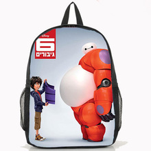 New BIG HERO 6 Baymax Backpack Anime Nylon Laptop Shoulder School Bag Women Men Preppy Style Daily Backpacks