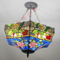 45CM modern American Bar Tiffany glass lamps dragonfly anti chandelier lighting living room modern bedroom Features