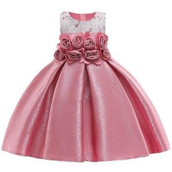 f1c1dedc2 2019 ropa de niña de verano niños tutú cumpleaños princesa vestido de fiesta  para niñas niños pequeños dama de honor vestido elegante para niña