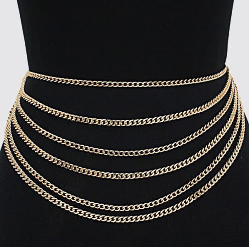Sexy Waist Chain Women Layer Belly Chain 2017 New Fashion Accessories Layers Body Chain Jewelry For Women delicate alloy body chain for women