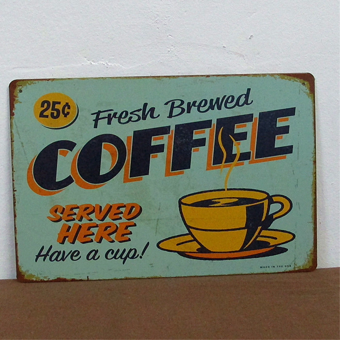 Have A Cup Coffee Theme Vintage Tin Sign Bar Decor Cafe Home Wall Decoration Metal Art Retro Poster Free Shipping On Aliexpress Alibaba Group