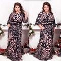 Большой размер 6XL 2016 Жира ММ Женщины одеваются Весна свободные печати длинные платья плюс размер женщин одежда 6xl платье