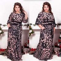 Big size 6XL 2018 Fat MM Woman dress Spring loose printing long dresses plus size women clothing 6xl dress