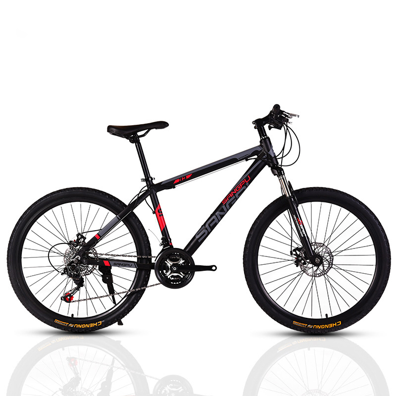 AOXIN 26 inch mountain bike Variable font b speed b font dual disc brakes high carbon
