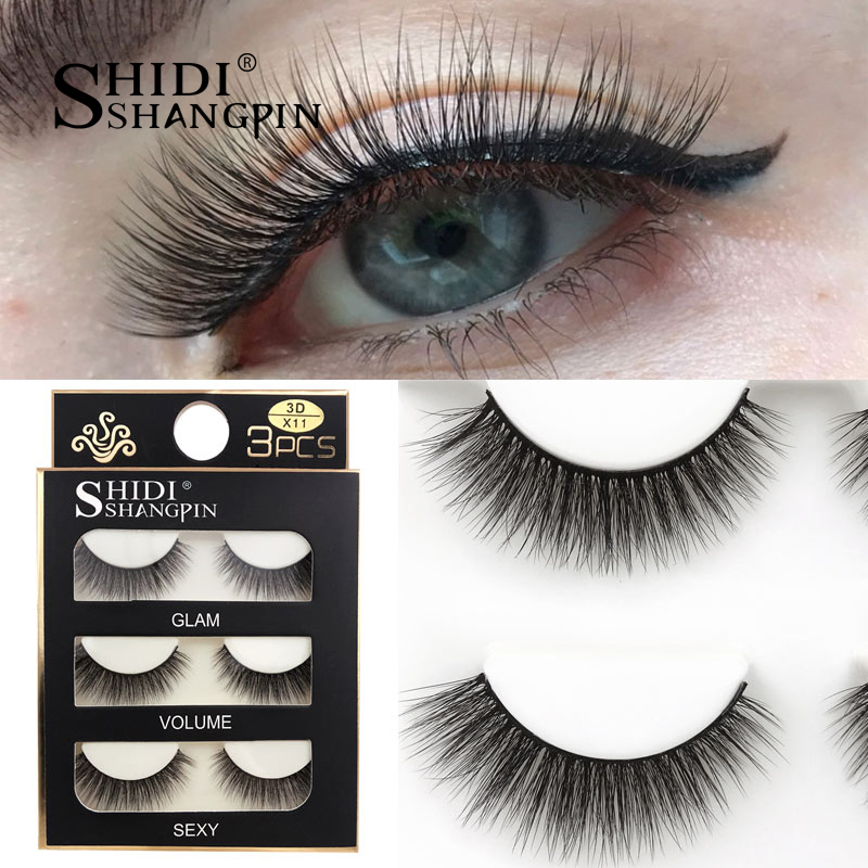 HTB1YNotXFzsK1Rjy1Xbq6xOaFXac SHIDISHANGPIN 3 pairs mink eyelashes natural fake eye lashes make up handmade 3d mink lashes false lash volume eyelash extension