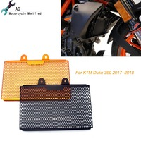 For KTM Duke 390 2018 2017 Motorcycle Radiator Guard Covers Paint Grill Orange Motocross Accessories Grille Heat sink Water