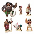 6 Figuras de Ação Pçs/set Moana Waialiki Maui Heihei Moana Aventura Princesa PVC Coleção Toy Dolls Presente Das Crianças # E