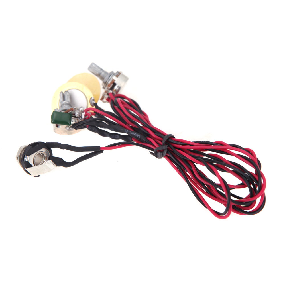 High Quality Dual Piezo Pickup Coil Acoustic Electric Guitar Pickup Parts With Volume And Tone Control