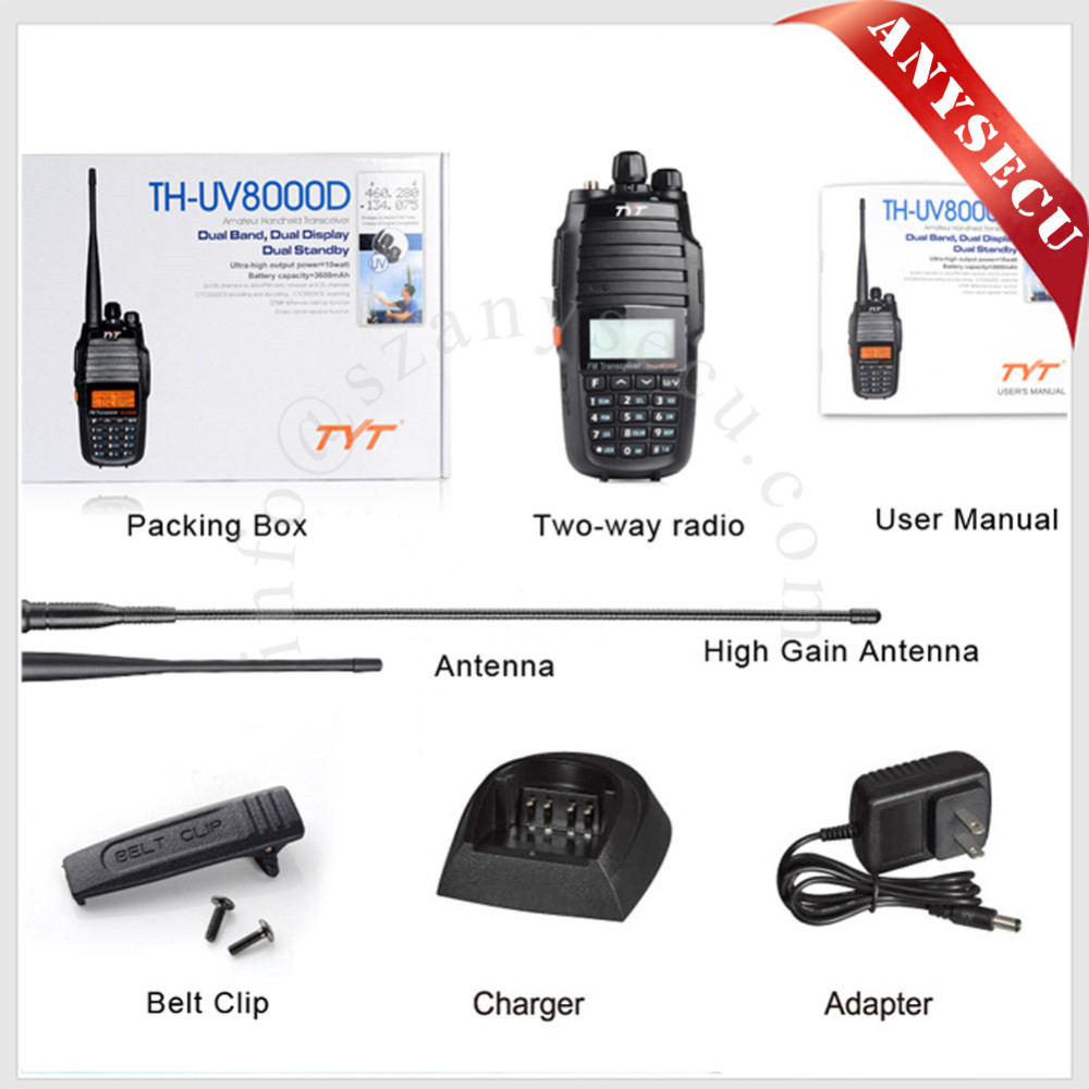 Radio bidireccional 10W TYT TH-UV8000D 136-174 / 400-520MHz Banda - Radios - foto 2