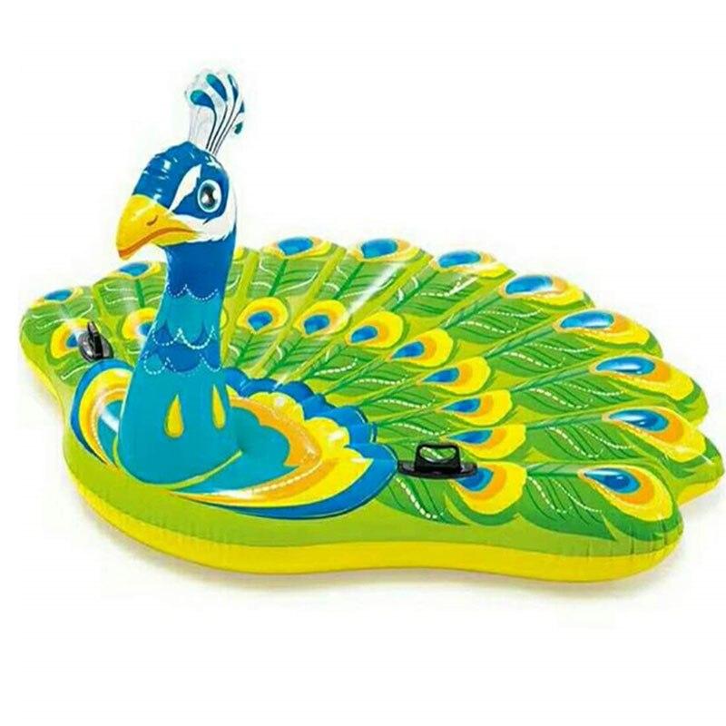 Géant Paon Licorne Flotteur piscine gonflable Jouets Tube Radeau matelas à eau Intex lit de plage Boia Piscina Pour Femmes Adultes