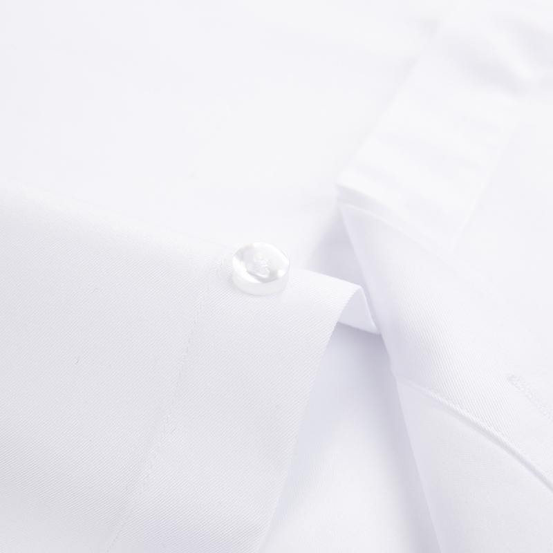 Image 4 - Men's Non Iron Long Sleeve Covered Placket Dress Shirt Standard fit Formal Business Easy Care Solid Office Basic Designed Shirts-in Dress Shirts from Men's Clothing
