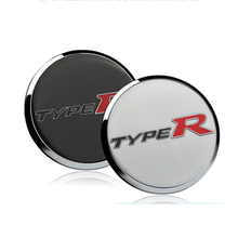 4 PCS Car styling Covers 3D Stainless Steel Car HUB Stickers For 10th HONDA CIVIC Type