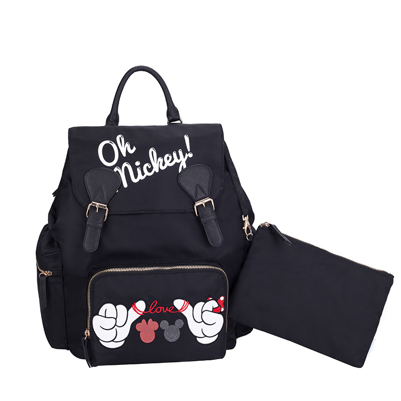 Disney mickey Mummy bag large capacity outdoor travel maternal child package shoulder multi function milk diaper bag backpack-in Diaper Bags from Mother & Kids    1