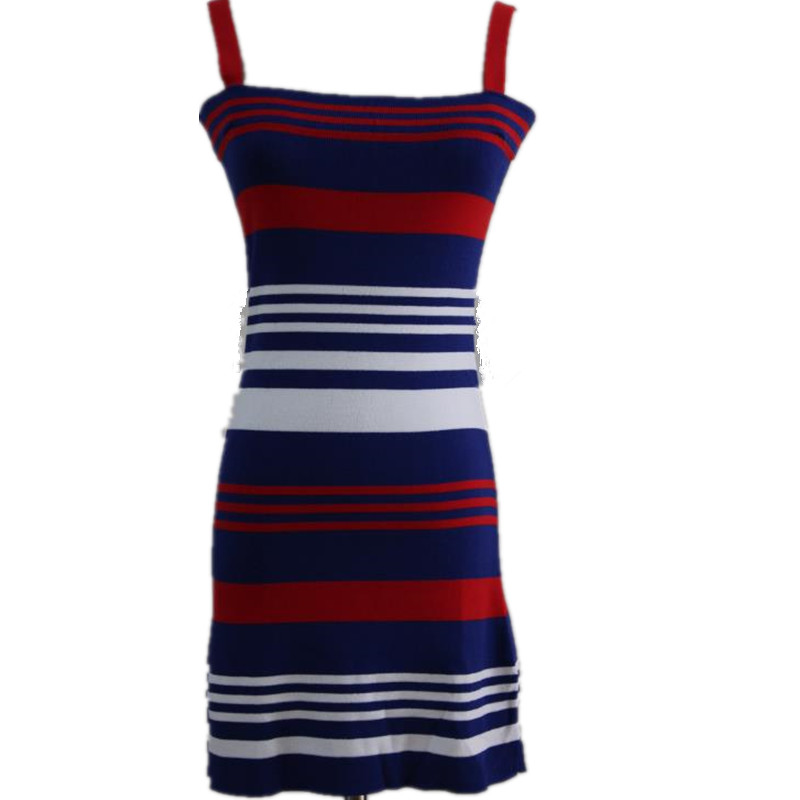 summer casual Striped Knit long Camisole patchwork plus size Strap font b women b font Tank