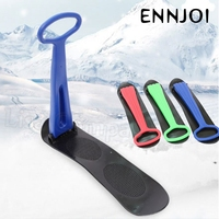 Outdoor Winter Plastic Skiing Boards Sled Luge Snow Grass Sand Board Skiing Board Snowboard for Children and A